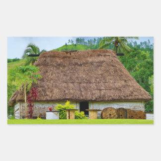 Traditional Fijian Bure, Navala Village, Fiji Sticker