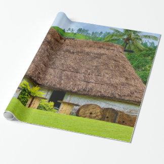 Traditional Fijian Bure, Navala Village, Fiji Wrapping Paper