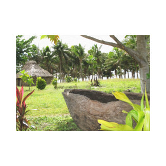 Traditional Fijian drum or lali Stretched Canvas Prints