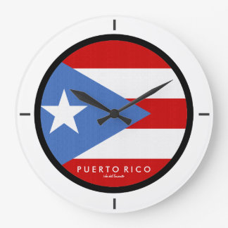 Traditional, Flag of Puerto Rico Wallclock