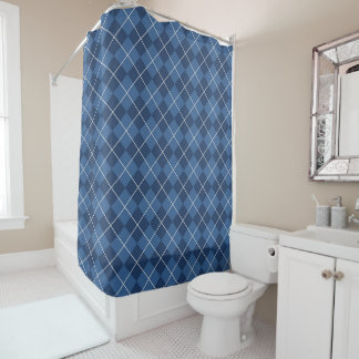 Traditional Gingham Pattern in Blue