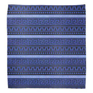 Traditional Greek Meander Pattern Bandana