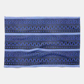 Traditional Greek Meander Pattern Kitchen Towel