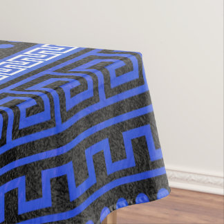 Traditional Greek Meander Pattern Tablecloth