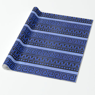 Traditional Greek Meander Pattern Wrapping Paper