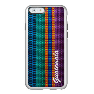 Traditional Guatemala fabric weave custom text Incipio Feather® Shine iPhone 6 Case