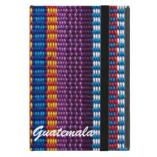 Traditional Guatemala fabric weave custom text iPad Mini Case