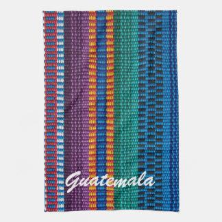 Traditional Guatemala fabric weave custom text Kitchen Towel
