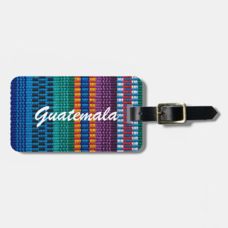 Traditional Guatemala fabric weave custom text Luggage Tag