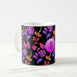 Traditional & Hip European Folk Art Coffee Mug