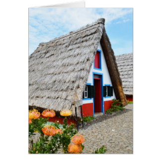 Traditional house in Santana, Madeira Card