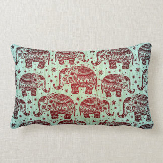 Traditional India Block Print Elephant Pillow