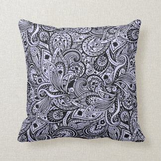Traditional India Block Print Paisly Pillow