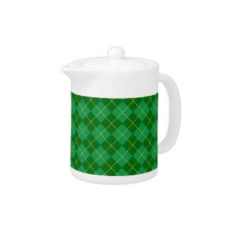 Traditional Irish Plaid Tartan Green Pattern