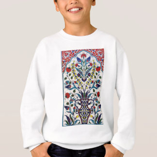 Traditional islamic floral design tiles sweatshirt