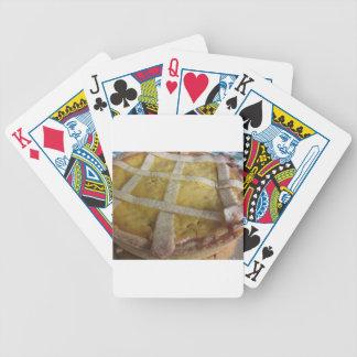 Traditional italian cake Pastiera Napoletana Bicycle Playing Cards