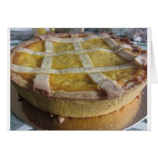 Traditional italian cake  Pastiera Napoletana Card