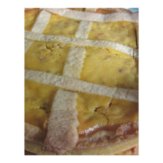 Traditional italian cake Pastiera Napoletana Custom Letterhead