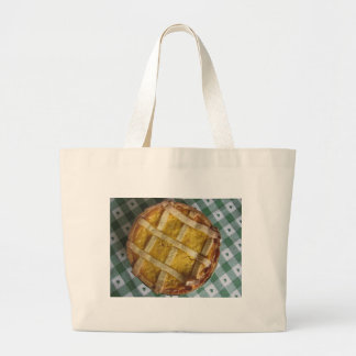 Traditional italian cake Pastiera Napoletana Large Tote Bag