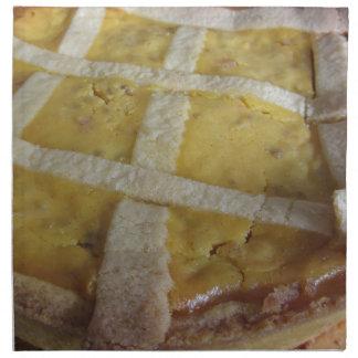Traditional italian cake Pastiera Napoletana Napkin
