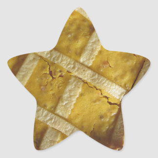 Traditional italian cake Pastiera Napoletana Star Sticker
