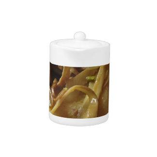 Traditional italian Paccheri pasta with artichokes