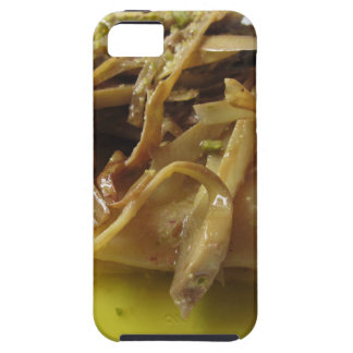 Traditional italian Paccheri pasta with artichokes iPhone 5 Cases