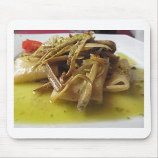 Traditional italian Paccheri pasta with artichokes Mouse Pad