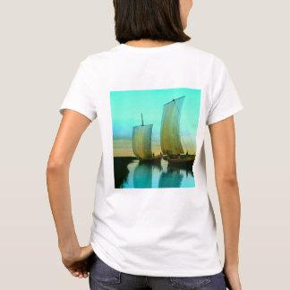 Traditional Japanese Junks Fishing Boats Vintage T-Shirt