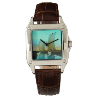 Traditional Japanese Junks Fishing Boats Vintage Watch