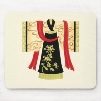 Traditional Japanese Kimono with Floral Print Mouse Pad