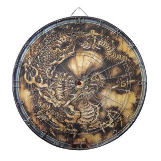 Traditional Japanese Oriental Dragon - 日本 - 鳴き龍 Dartboard