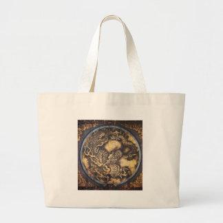 Traditional Japanese Oriental Dragon - 日本 - 鳴き龍 Large Tote Bag