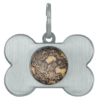 Traditional Japanese Oriental Dragon - 日本 - 鳴き龍 Pet Tag