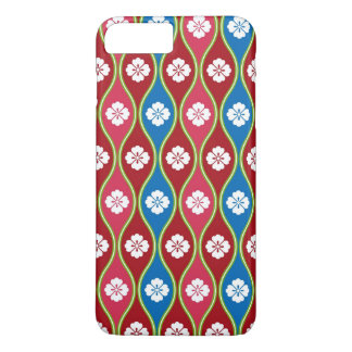Traditional Japanese Style Village Floral Pattern iPhone 7 Plus Case