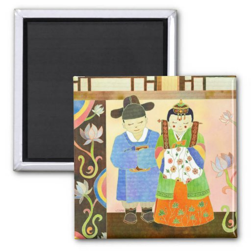 Traditional Korean Wedding: Cute Wedding Gift Magnets