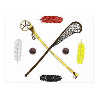 Traditional Lacrosse sticks Postcard
