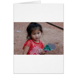 Traditional Laos Girl Card