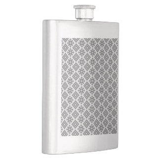 Traditional Latvian Design pattern Hip Flask
