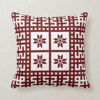 Traditional Latvian Motif Auseklis Throw Pillow