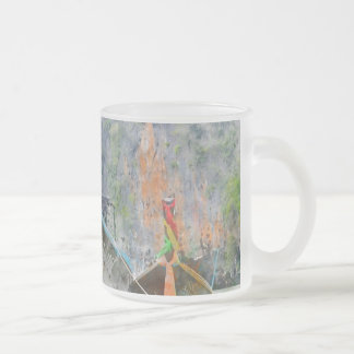 Traditional Long Boat in Thailand Frosted Glass Coffee Mug