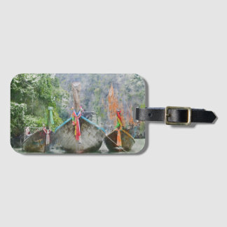 Traditional Long Boat in Thailand Luggage Tag