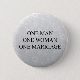 Traditional Marriage 2 Inch Round Button