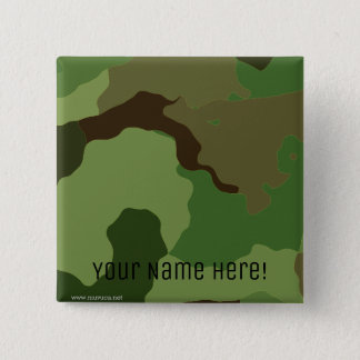 Traditional military camouflage 2 inch square button