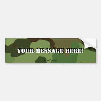 Traditional military camouflage bumper sticker