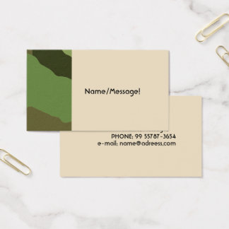 Traditional military camouflage business card