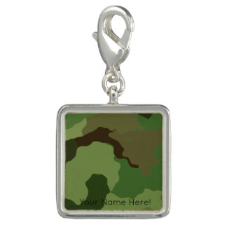 Traditional military camouflage charm