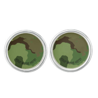 Traditional military camouflage. cufflinks