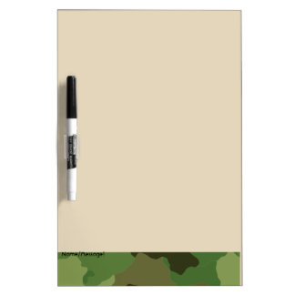Traditional military camouflage dry erase board