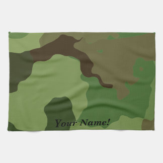 Traditional military camouflage. kitchen towel
